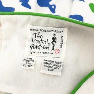 Vintage Dresses - Vintage Vested Gentress Dress Seal Novelty Print